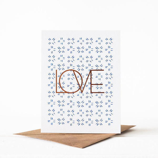 LOVE Santorini Card