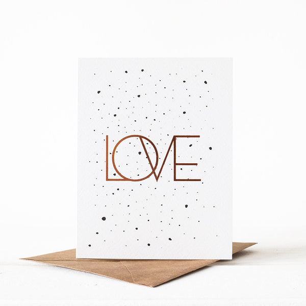 LOVE Splatter Card