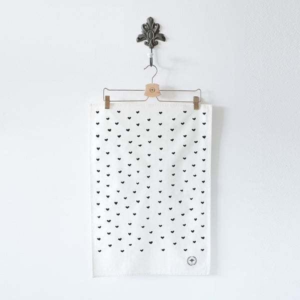 Mini Hearts Tea Towel