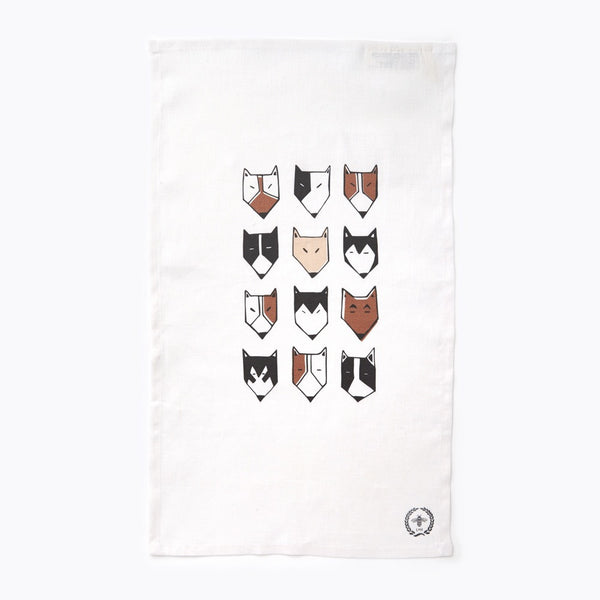 Dog Pack Tea Towel
