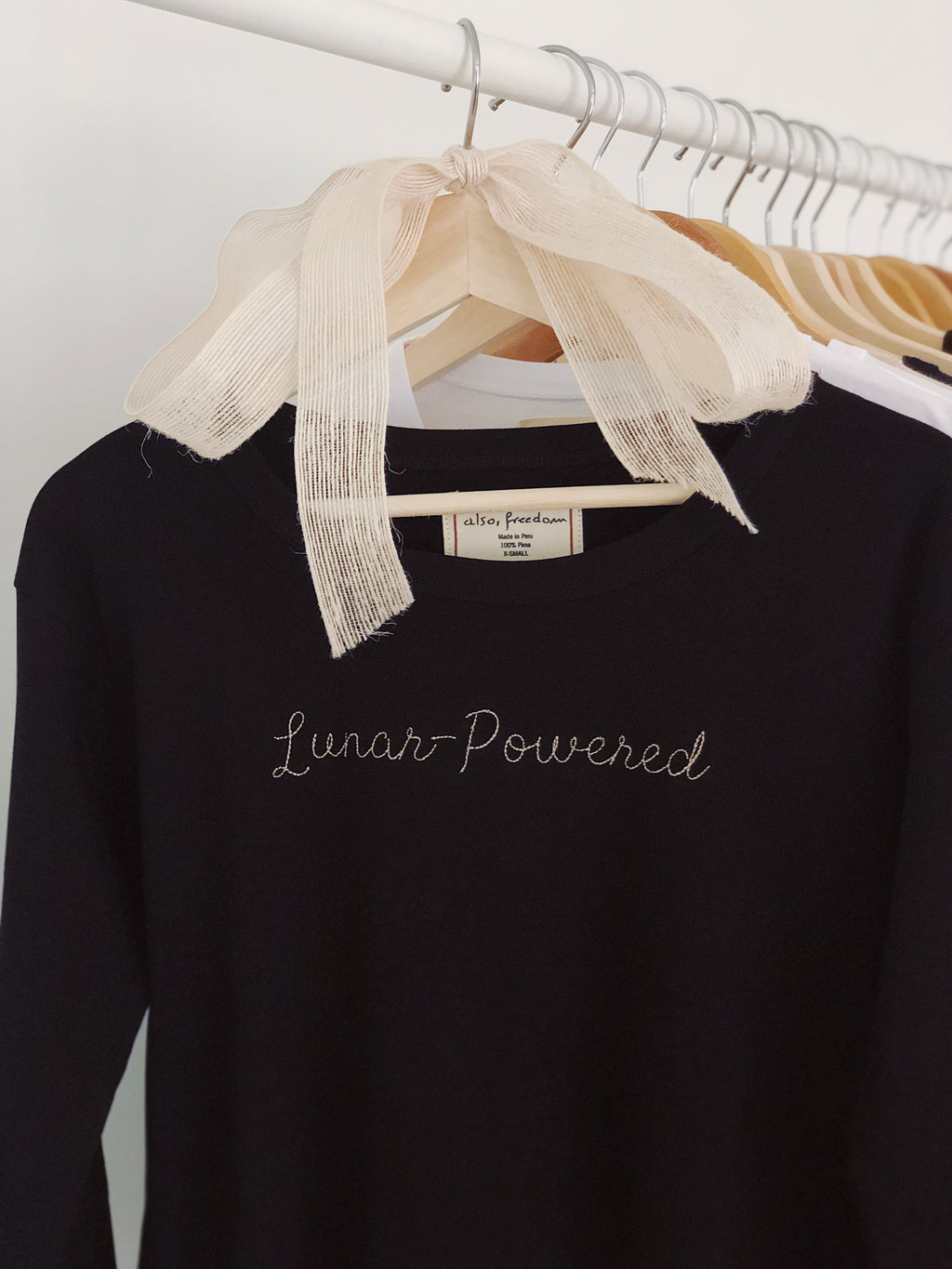 Lunar-Powered, High-Waisted Long Sleeved Tee