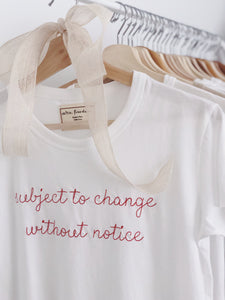 Baby Girl Tee - Subject to Change Without Notice