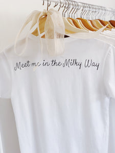 Meet Me in the Milky Way, Baby Girl Tee BACK
