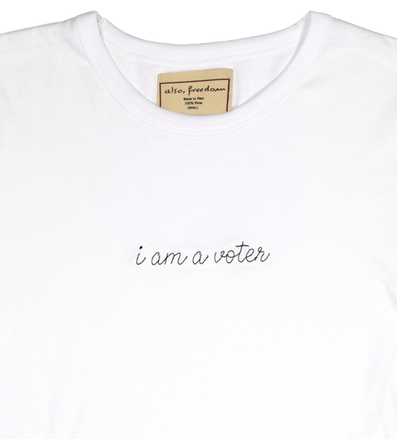 I am A Voter, Baby Girl Tee