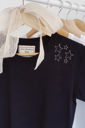 Sprinkle of Courage (Star), Long Sleeved Baby Girl Tee