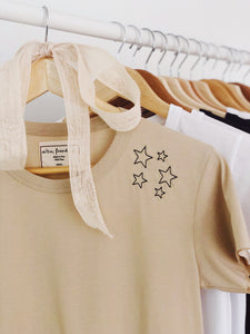 Sprinkle of Courage, Baby Girl Tee | Beige