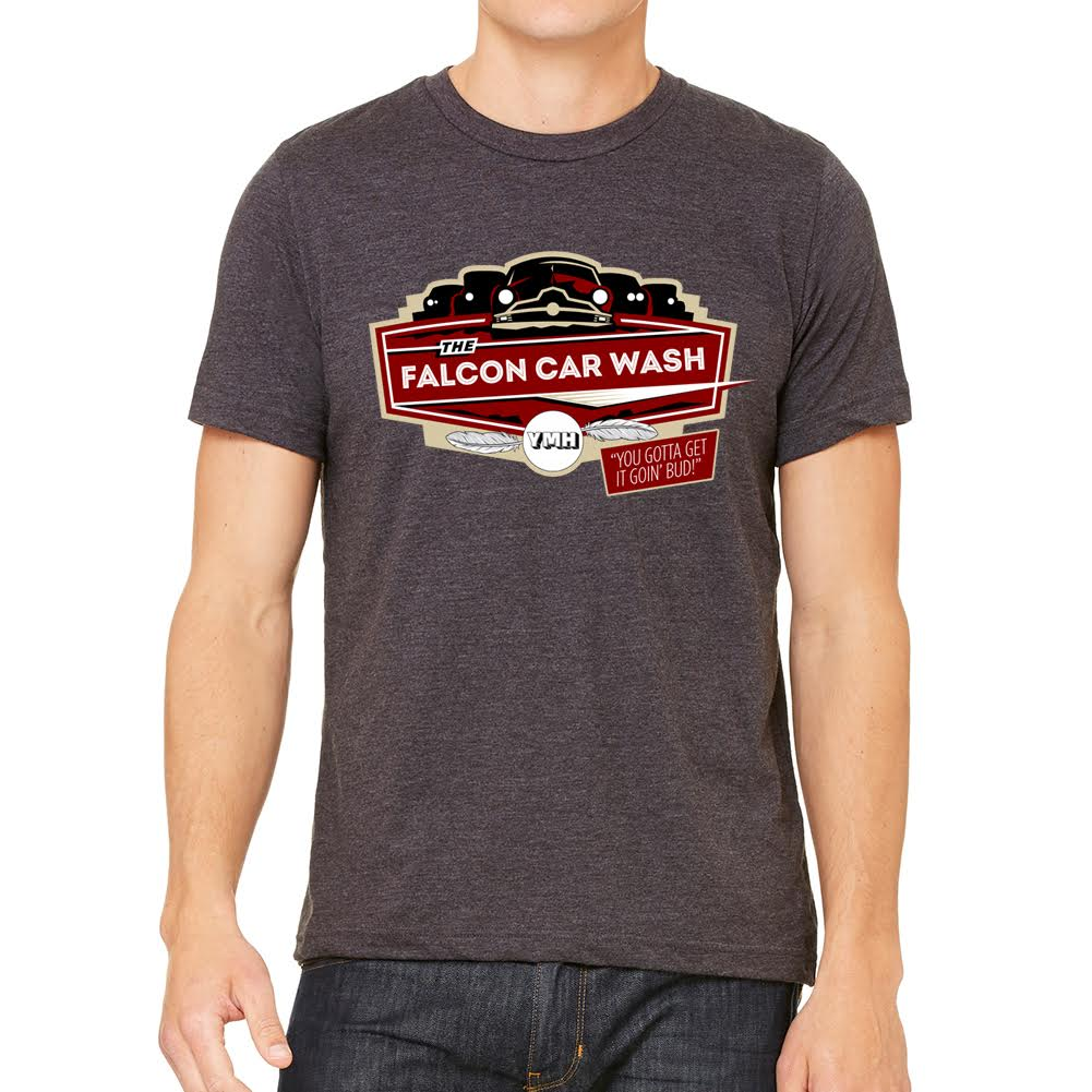 Falcon Car Wash Heather Charcoal Tee