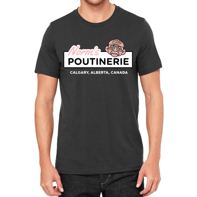Norms Poutinerie Mens Charcoal Tee