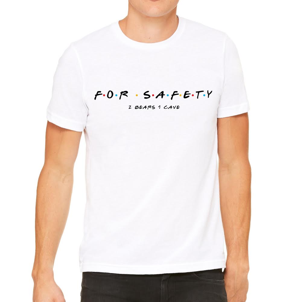 For Safety Men's White Tee