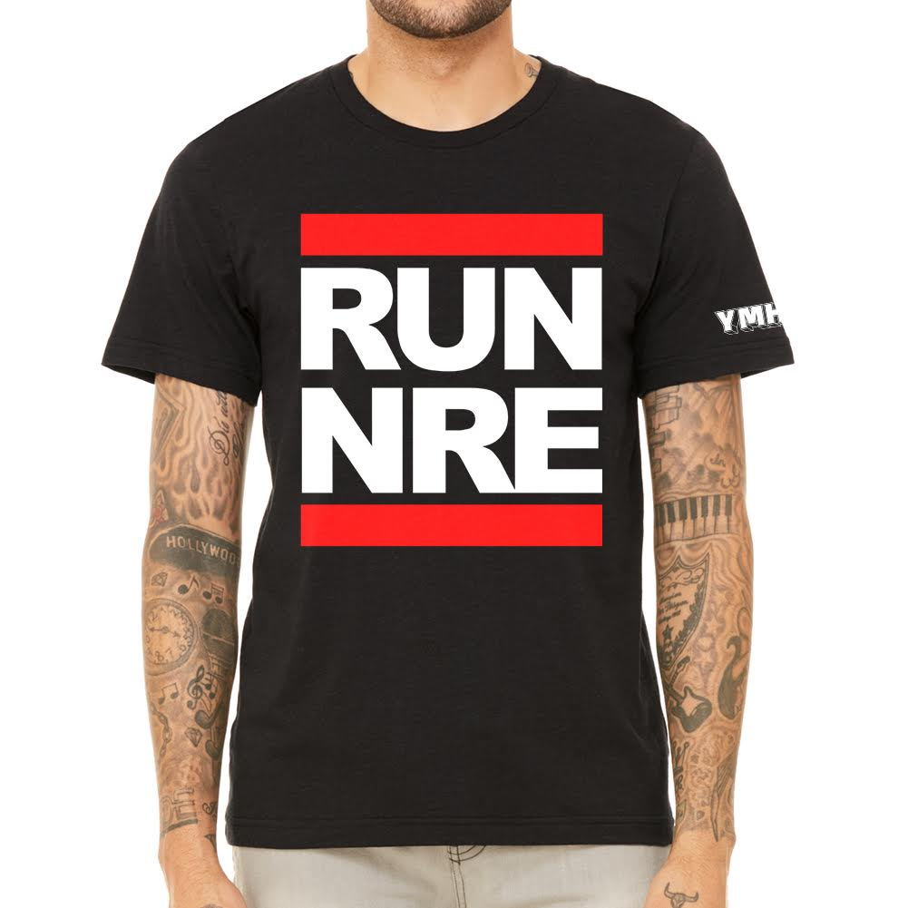 Run Nre Men's Black Tee
