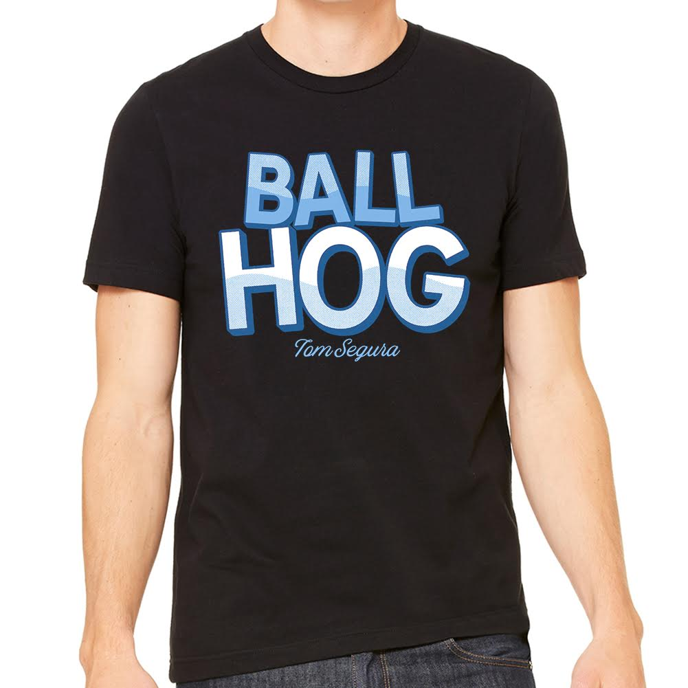 Ball Hog Mens Black Tee