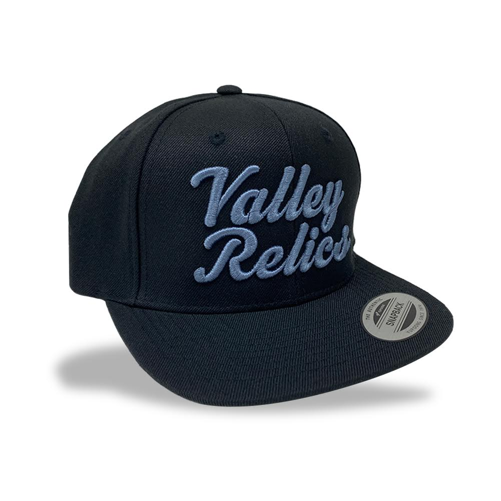 Valley Relics Black Snapback Hat