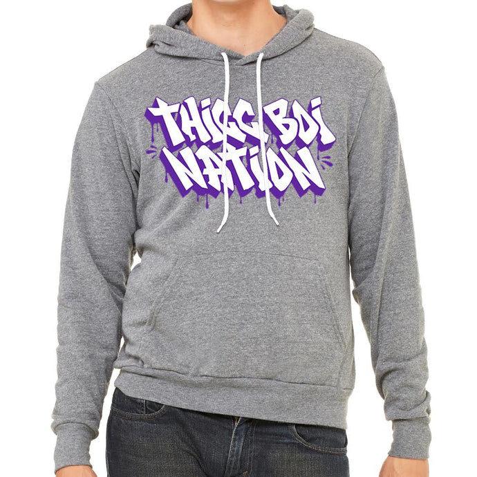 Thicc Boi Nation Men's Heather Grey Hoodie
