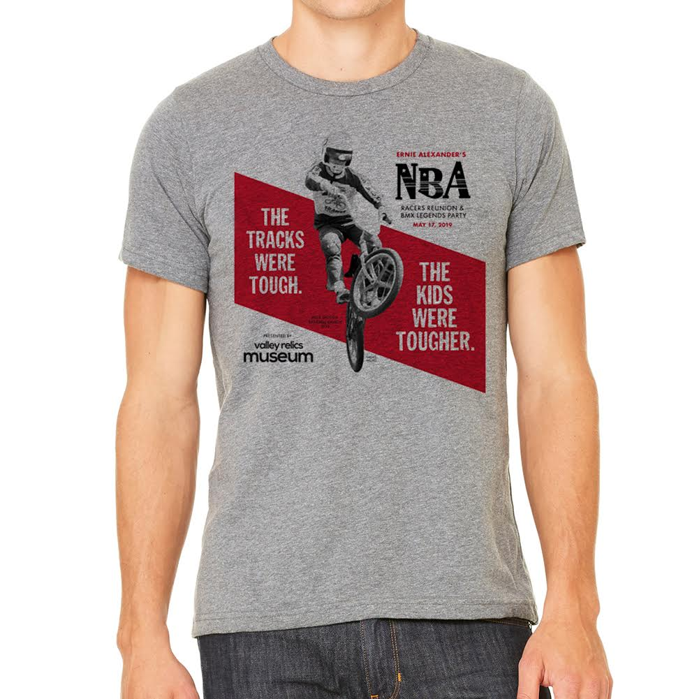 2019 NBA Racers Reunion Party Mens Heather Grey T-Shirt