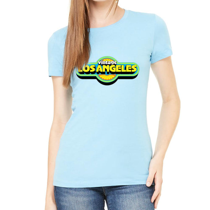 Vintage LA Women's Heather Light Blue Tee