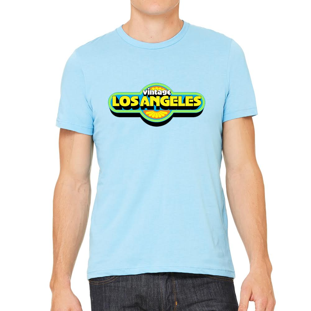 Vintage LA Men's Light Blue Tee