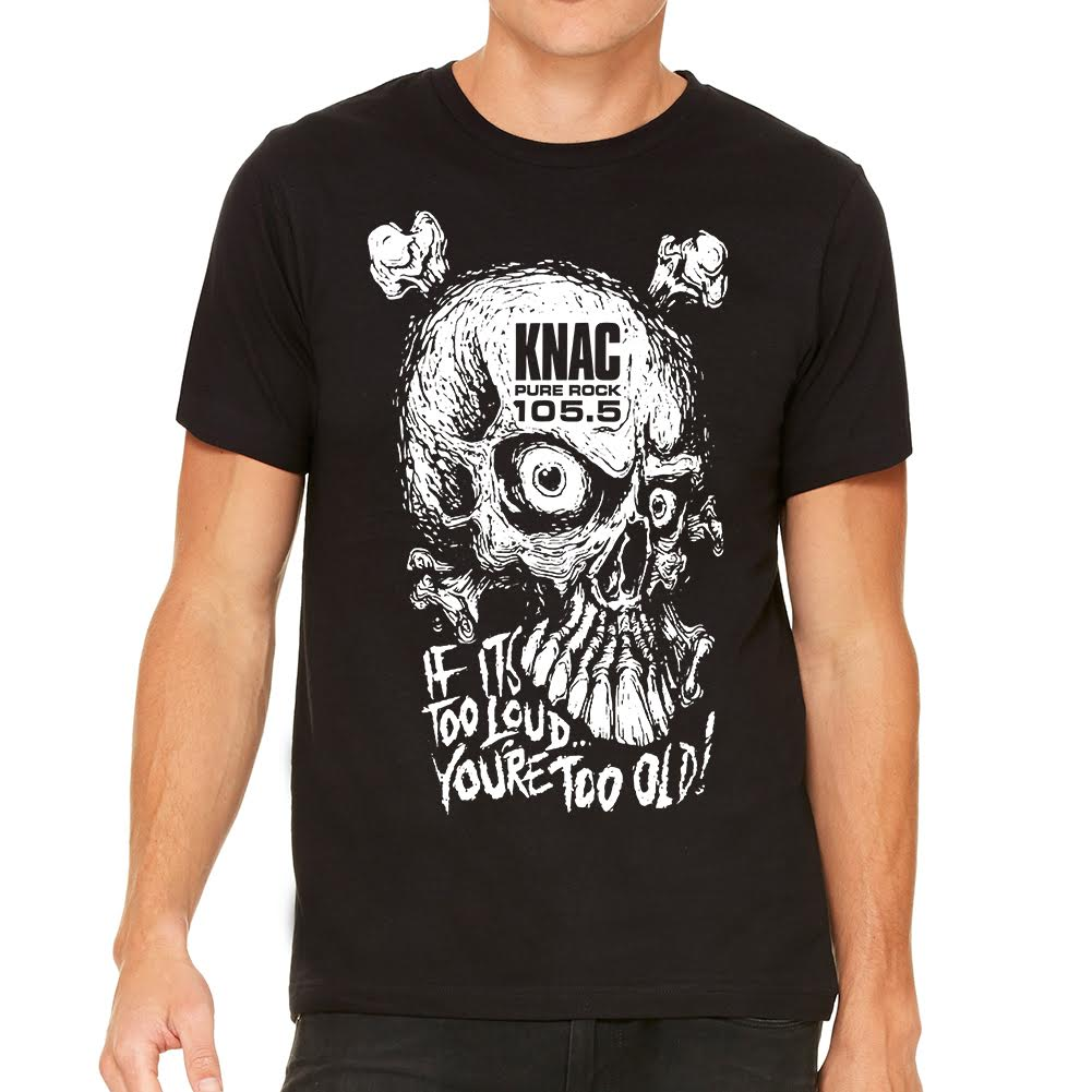 KNAC If It's Too Loud Men's Black Tee