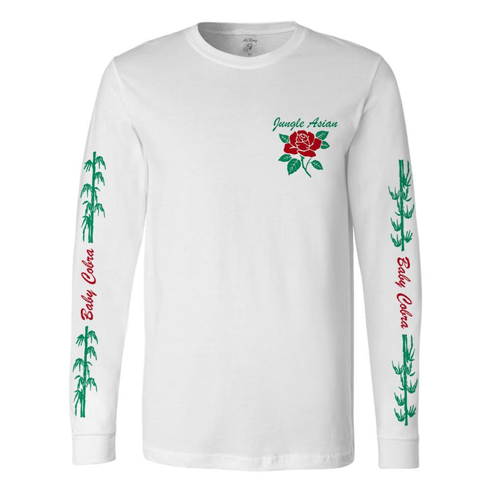 Jungle Asian White Long Sleeve Tee