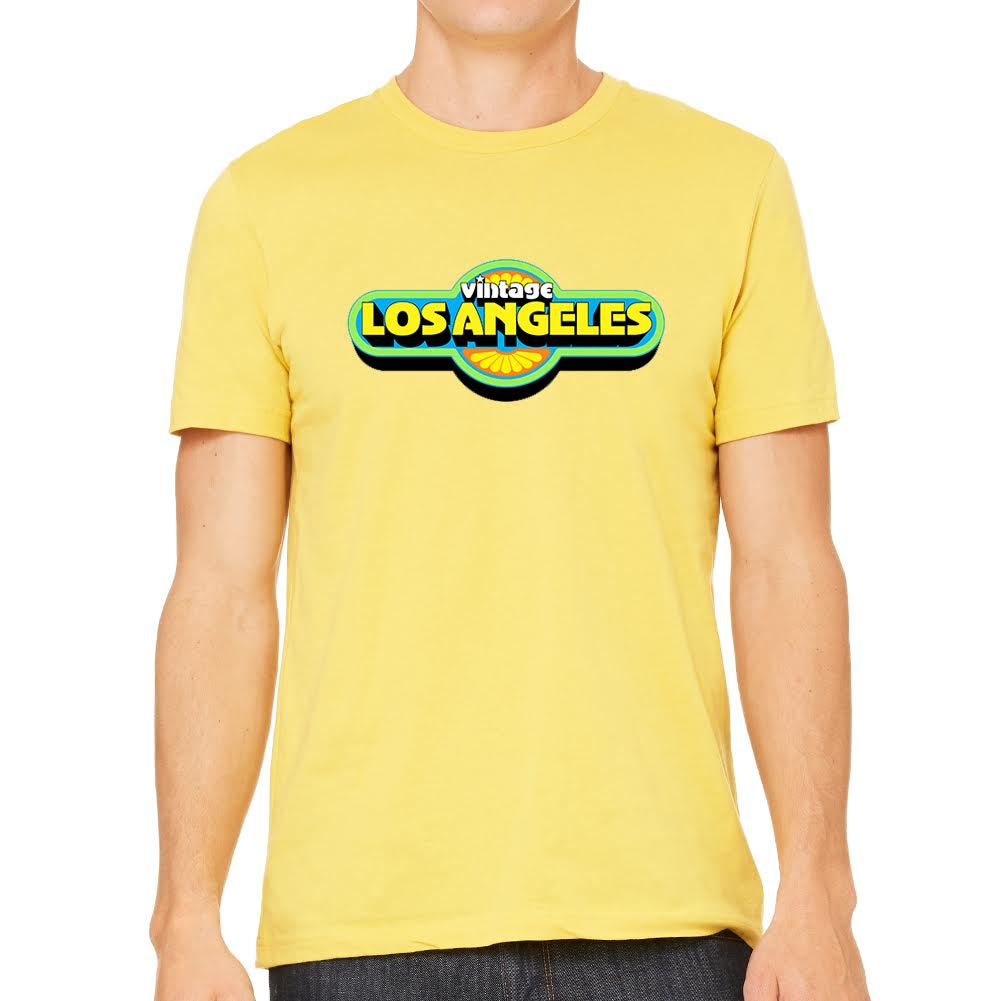 Vintage LA Men's Yellow Tee