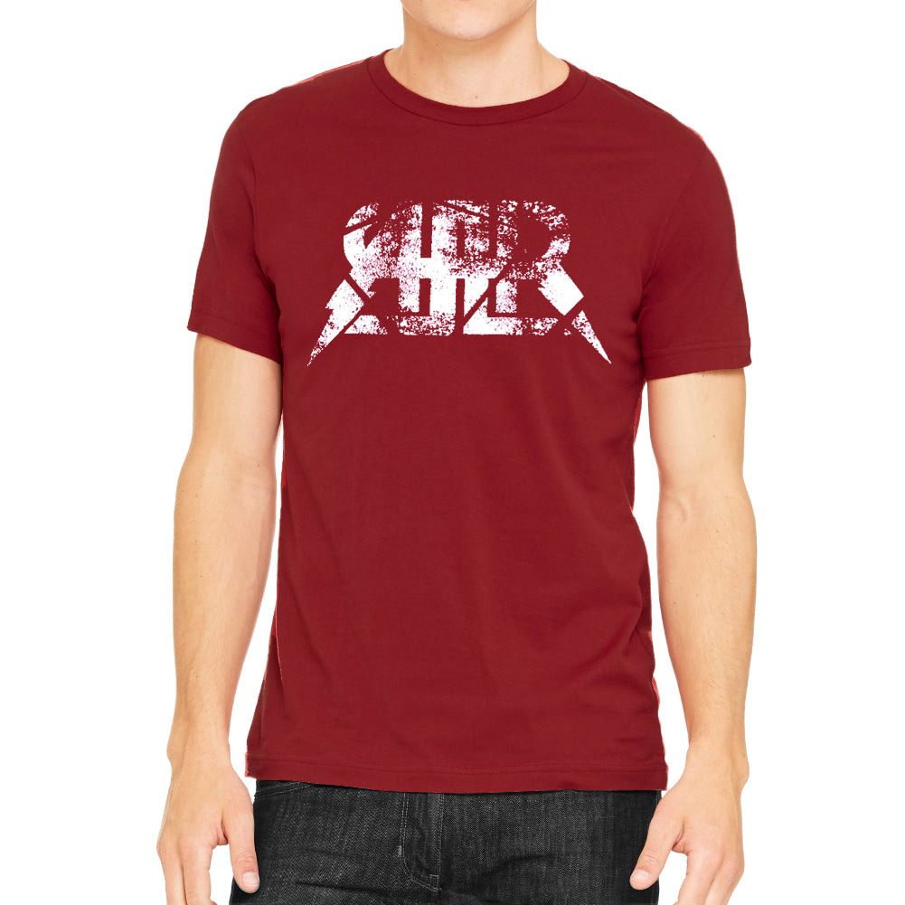 AAR White Spatter Logo Men's Red Vintage T-shirt
