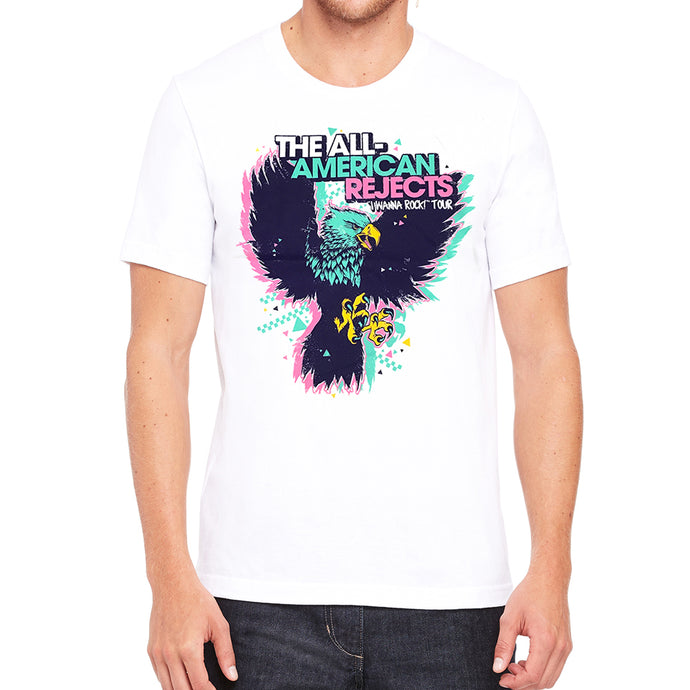 I Wanna Rock Eagle Men's White Vintage T-shirt