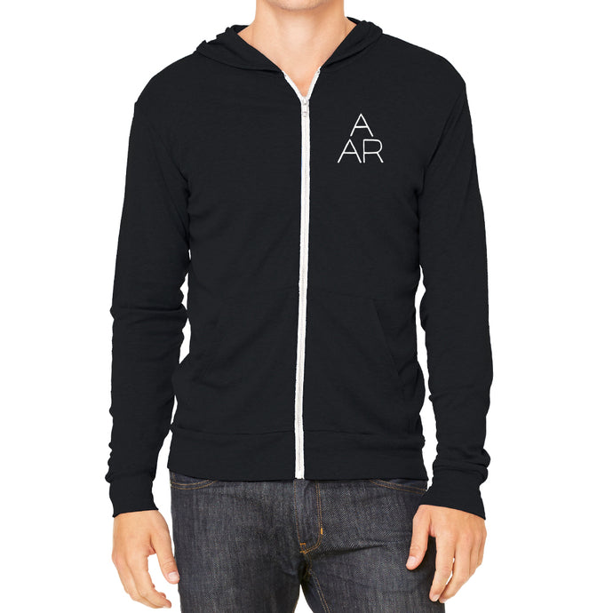 AARV Logo Men's Black Ultra Light Hoodie