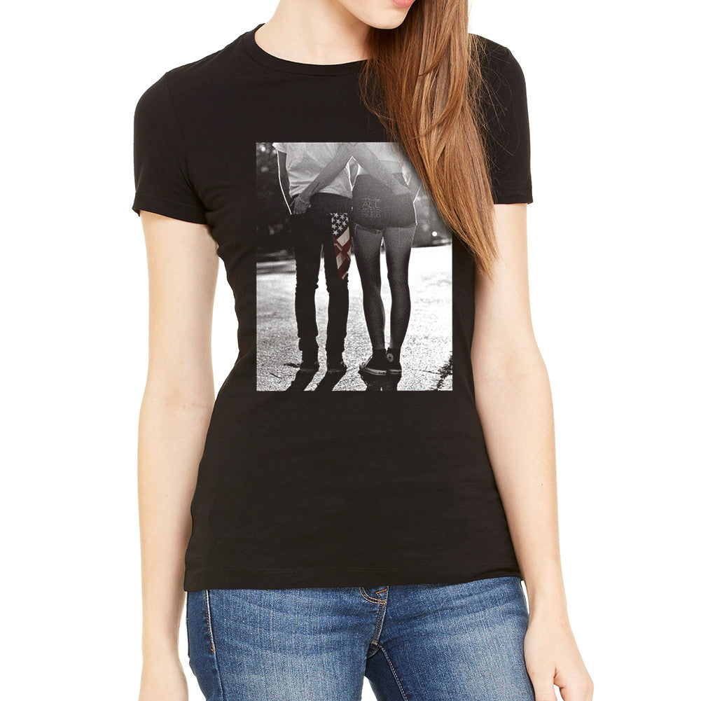 All American Rejects Pocketed Women's Black T-Shirt