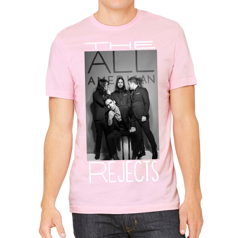All American Rejects Sued Men's Pink T-Shirt