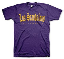 Los Scandalous Men's Purple T-Shirt