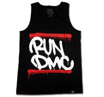 RUN DMC Men's Black Tank Top