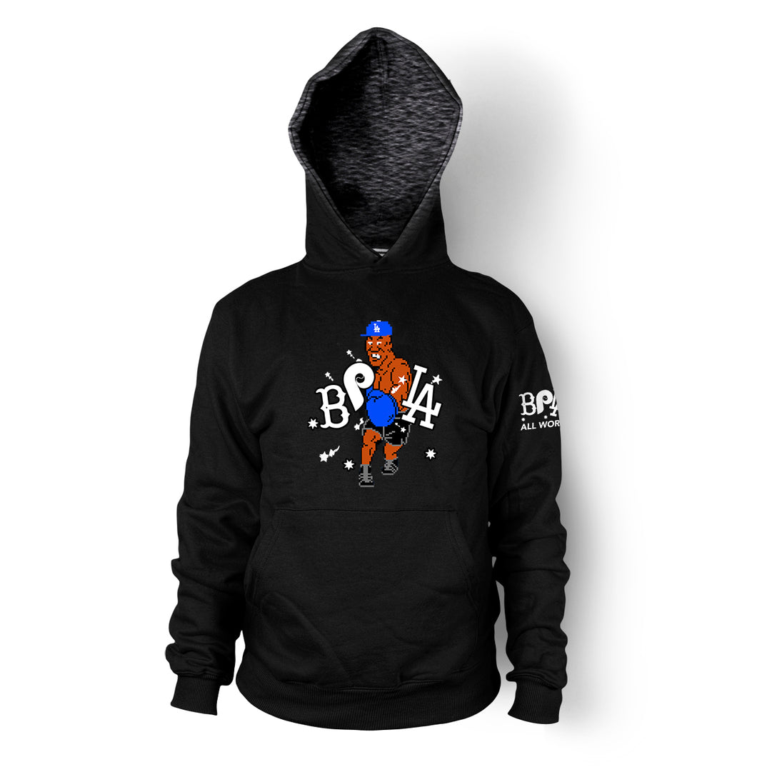 BPLA Tyson Punching Men's Black Pullover Hoodie