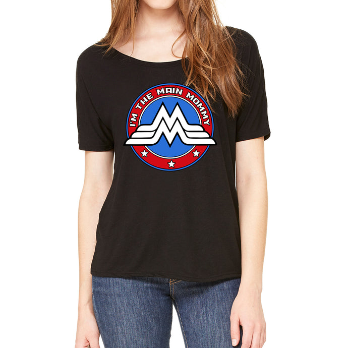 Main Mommy Women's Slouchy Black Tee