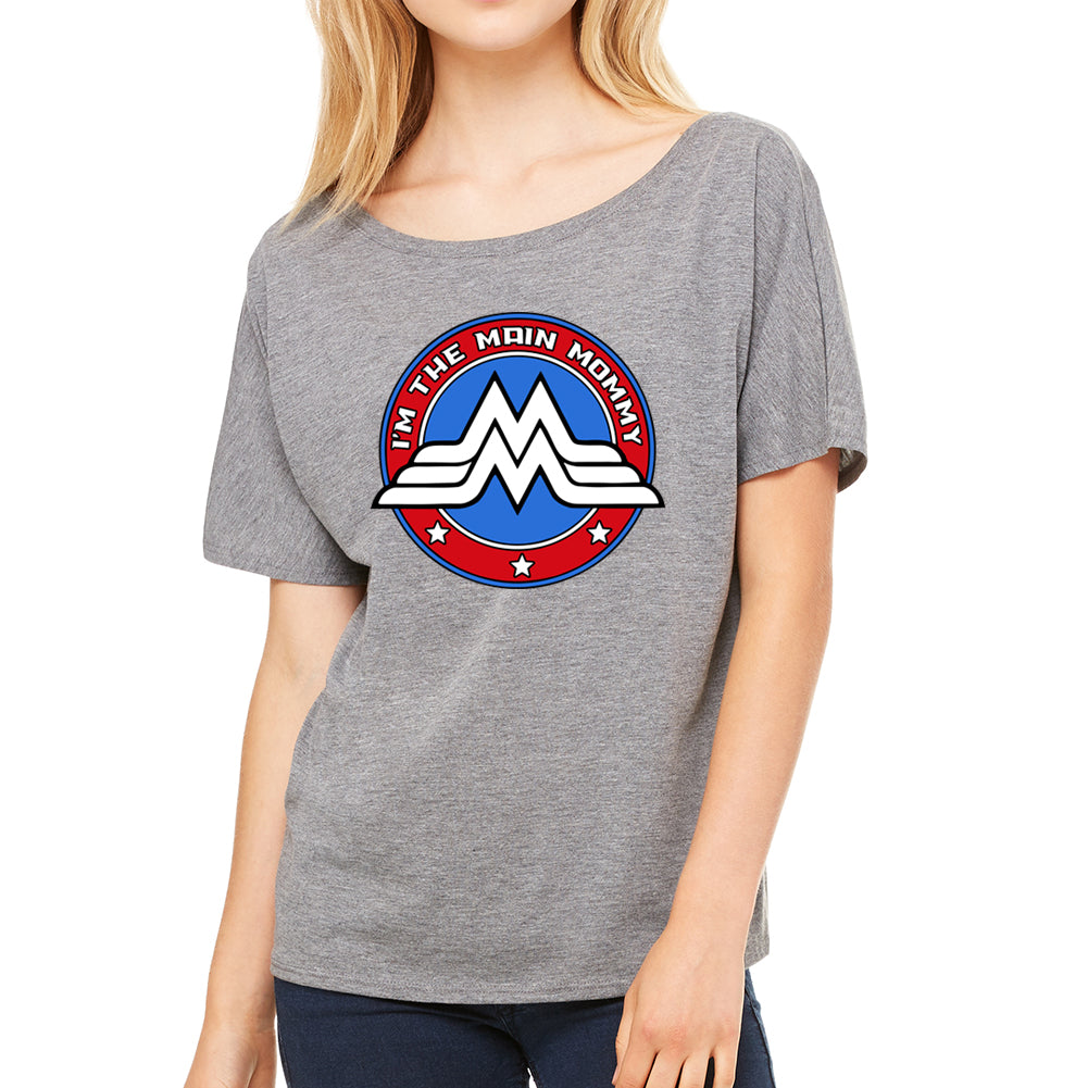 Main Mommy Women's Slouchy Heather Grey Tee
