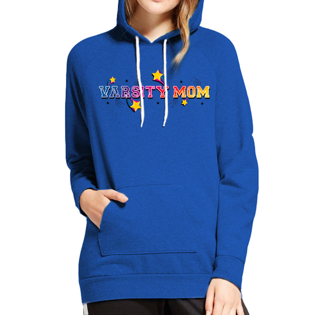 Varsity Mom Heather Blue Hoodie