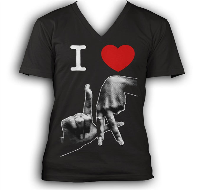 I love LA Women's Black V-Neck T-Shirt