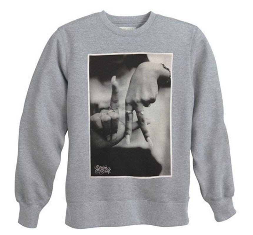 LA Hands Men's Heather Grey Crewneck Sweatshirt