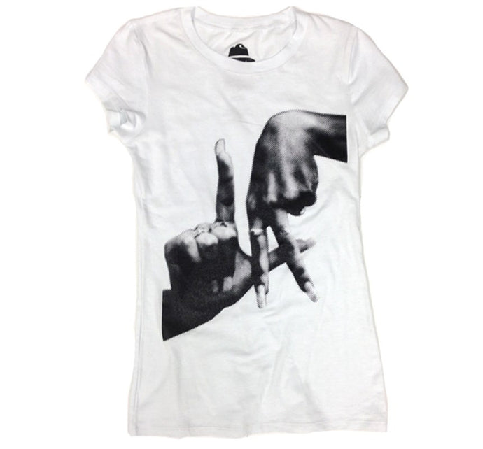 LA Fingers Women's White T-Shirt