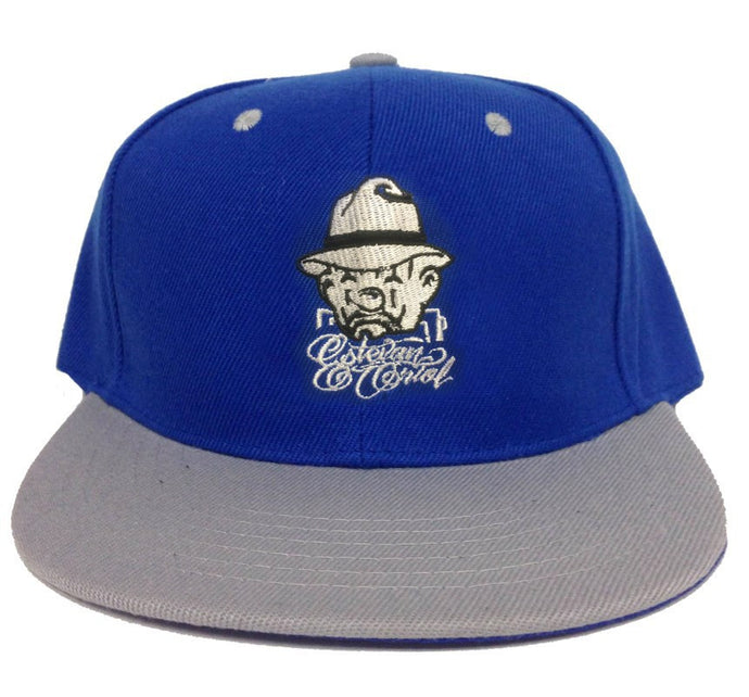Estevan Oriol Snapback, Royal Blue & Grey