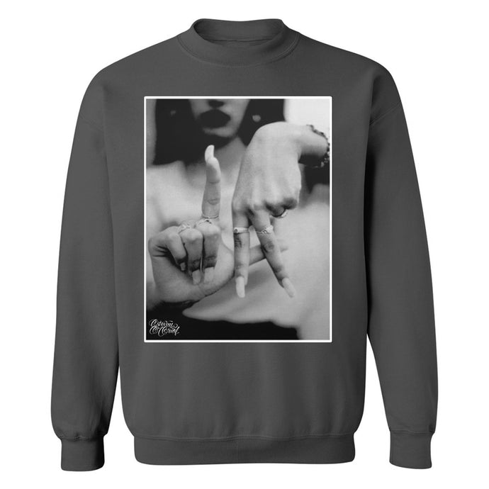 LA Hands Men's Charcoal Crewneck Sweatshirt