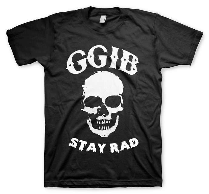 GGIB Stay Rad Skull Men's Black T-Shirt