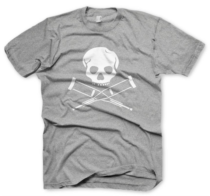 Skull & Crutches Grey Men's T-Shirt