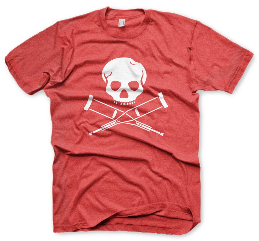 Skull & Crutches Red Men's T-Shirt