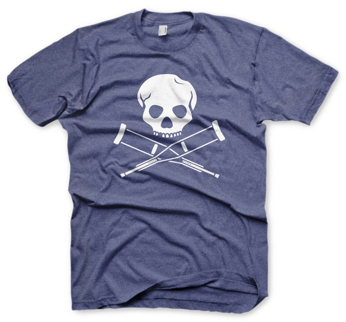 Skull & Crutches Blue Men's T-Shirt
