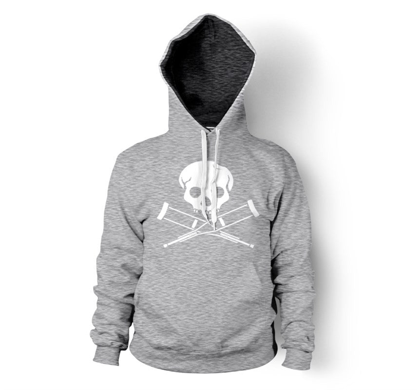 Skull & Crutches - Men's Pull Over Hoody