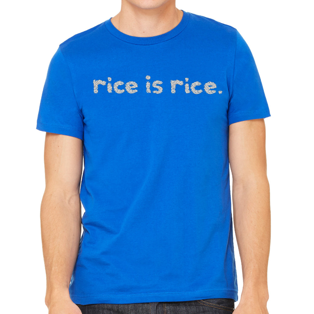 Rice is Rice Men's Blue T-Shirt
