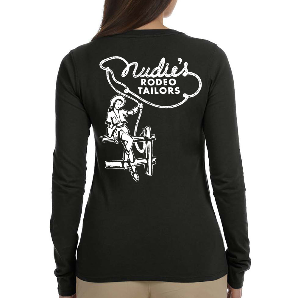 Clothed Cowgirl Women's Black Long Sleeve