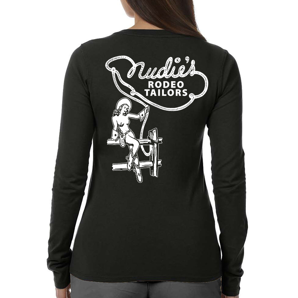 Nude Cowgirl Women's Black Long Sleeve