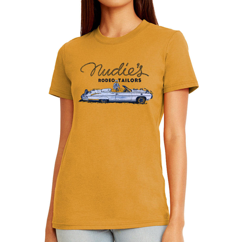 Nudie Car Women's Antique Gold T-Shirt