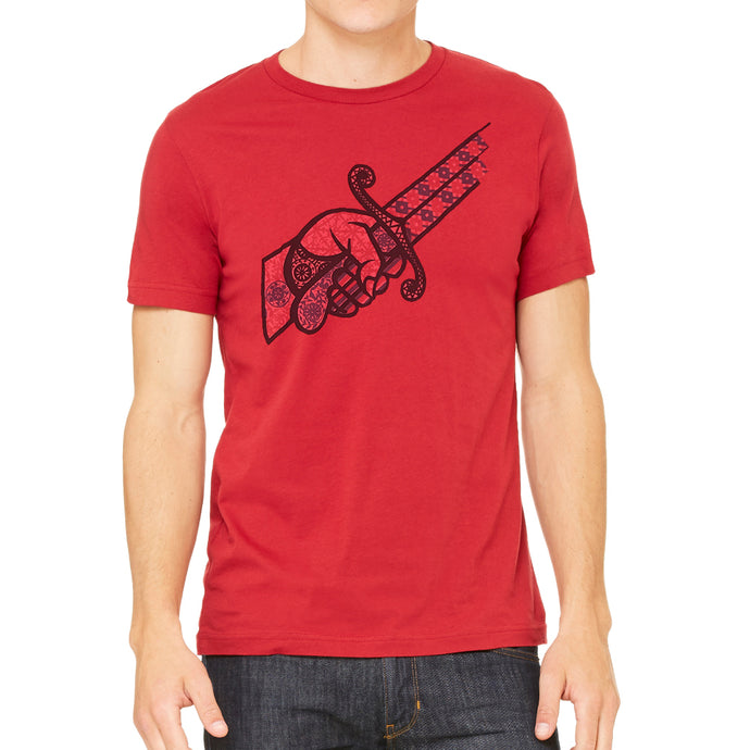 Stab My Back Men's Red Vintage T-shirt