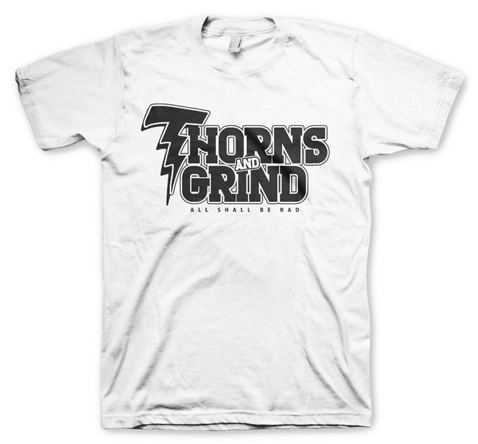 Thorns and Grind Men's White T-Shirt